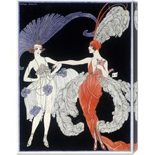 'The Purchase' by Georges Barbier Stretched Canvas Art