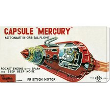 'Capsule Mercury' by Retrobot Stretched Canvas Art