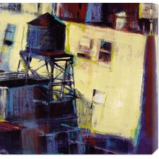 'Terrace Watertower' by Patti Mollica Stretched Canvas Art