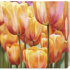 'Spring Tulips II' by Luca Villa Stretched Canvas Art