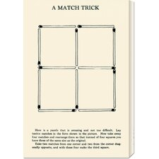 'A Match Trick' by Retromagic Stretched Canvas Art