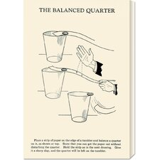 'The Balanced Quarter' by Retromagic Stretched Canvas Art