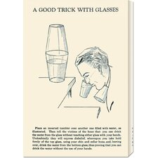 'A Good Trick with Glasses' by Retromagic Stretched Canvas Art