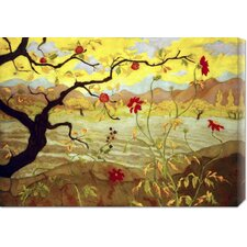 'Apple Tree with Red Fruit' by Paul Ranson Stretched Canvas Art