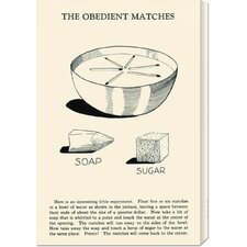 'The Obedient Matches' by Retromagic Stretched Canvas Art