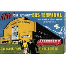 'New Port Authority Bus Terminal' by Retro Travel Stretched Canvas Art