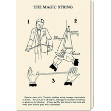 'The Magic String' by Retromagic Stretched Canvas Art