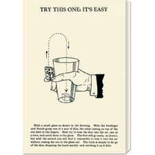 'Try This One: It's Easy' by Retromagic Stretched Canvas Art
