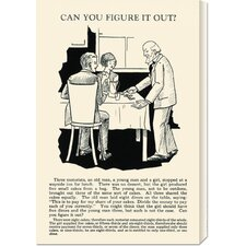 'Can You Figure it Out' by Retromagic Stretched Canvas Art