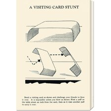 'A Visiting Card Stunt' by Retromagic Stretched Canvas Art