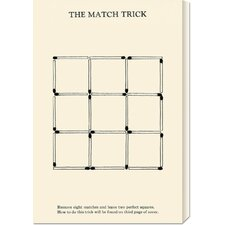 'The Match Trick - Two Perfect Squares' by Retromagic Stretched Canvas Art