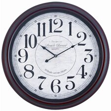 Calhoun Wall Clock in Mahogany
