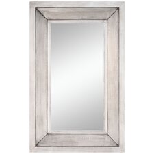 "44"" x 28"" Garner Mirror in Distressed Silver"