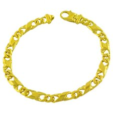 Men's Fancy Figaro Link Bracelet
