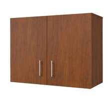 Mobile CaseGoods Wall Cabinet Locking Doors with 1 Adjustable Shelf