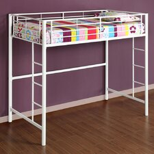 Twin Loft Bed with Built-In Ladder
