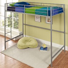Metal Twin over Loft Bunk Bed