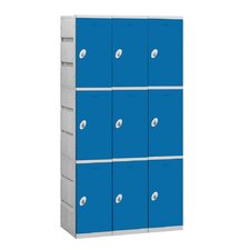 Assembled Triple Tier 3 Wide Locker