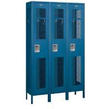 Assembled Extra Wide Vented Single Tier 3 Wide Locker