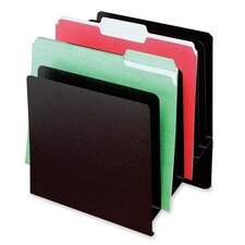 "Slant File Organizer,8-Pockets,9-7/8""x7-7/8""x11"",Black"