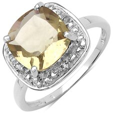 925 Sterling Silver Cushion Cut Gemstone Halo Ring