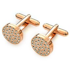 Classic Red Gold Plated Swarovski Crystal Cufflinks