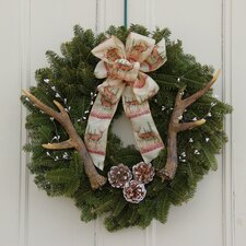 Rustic Antler Wreath