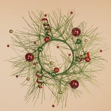 Glitter Pine Ball Wreath