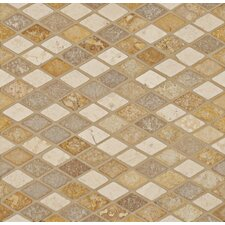 "12"" x 12"" Stone Mosaic Blend Artician Diamond"