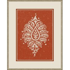 Paisley Wall Art in Russet