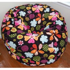 Flowers Dots Anti-Pill Fleece Bean Bag Chair