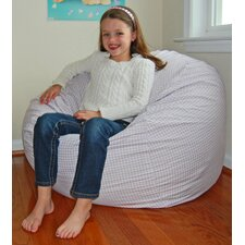 Gingham Check Cotton Bean Bag Chair