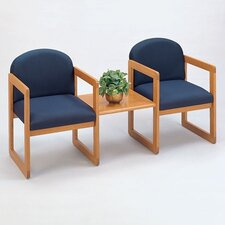 Classic Two Chairs with Connecting Center Table