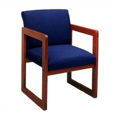 Classic Armless Guest Chair with Full Back
