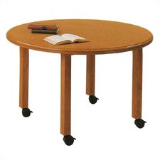 Contemporary Series Round Gathering Table (4 Post Base with Casters)