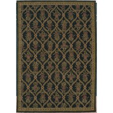 Home Nylon Lotsa Pineapples Black Novelty Rug