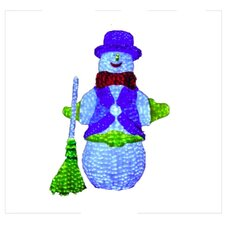 7' 3D Snowman Lit with LED