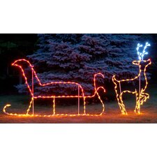LED Santa Claus with Reindeer