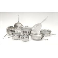 Pro-Clad 3-Ply Stainless Steel 12-Piece Cookware Set