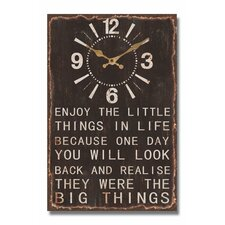 Enjoy Life Message Wall Clock