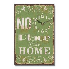 No Place Like Home Message Wall Clock