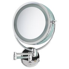 Wall Mount Revolving Lit Mirror 10x