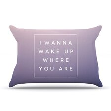 Wake Up Microfiber Fleece Pillow Case