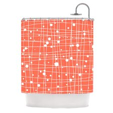 Woven Web I Polyester Shower Curtain