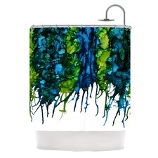 Drop Polyester Shower Curtain