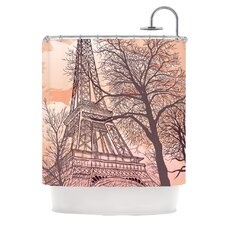 Eiffel Tower Polyester Shower Curtain