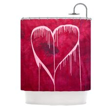 Miss You Polyester Shower Curtain