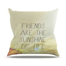 Friends Sunshine Throw Pillow