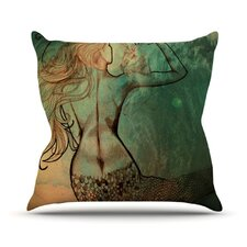 Poor Mermaid Throw Pillow