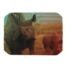 Abstract Rhino Placemat
